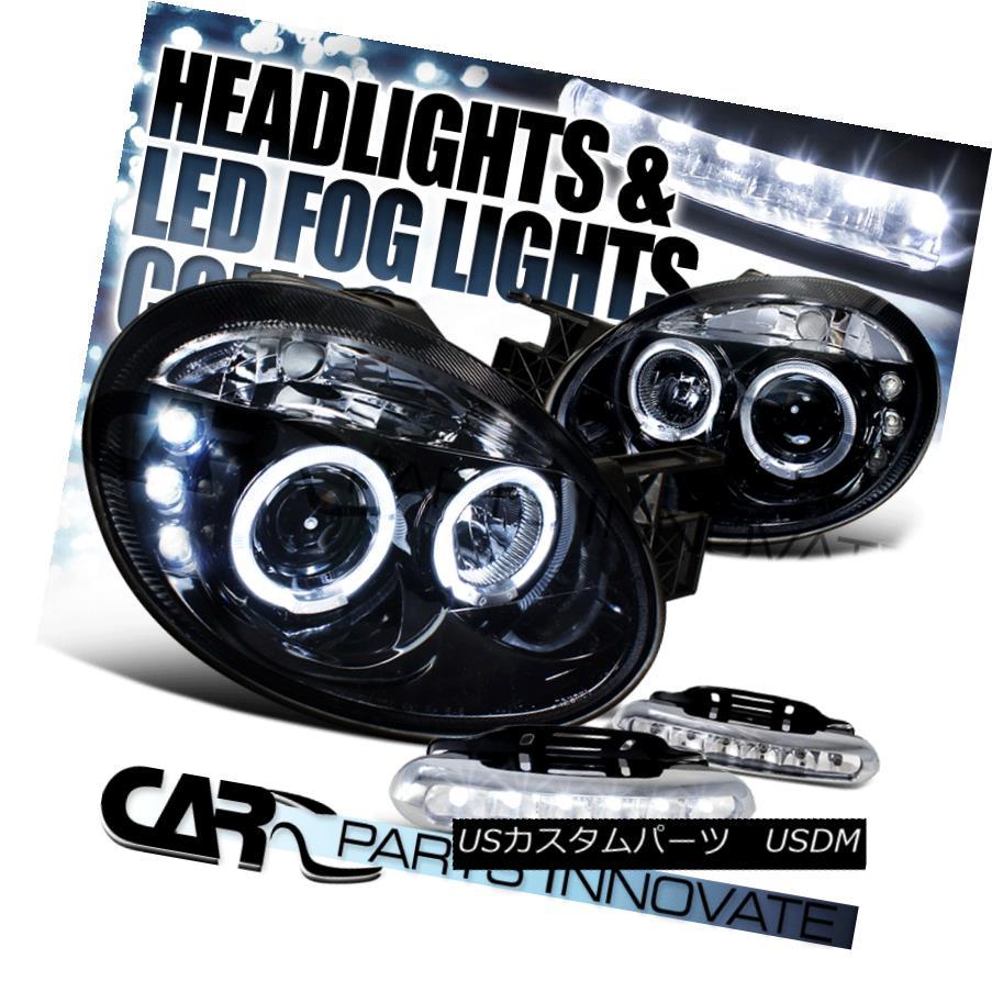 ヘッドライト Glossy Black Dodge 03-05 Neon SRT4 Halo Projector Headlights+6-LED Fog Lamps Glossy Black Dodge 03-05 Neon SRT4 Haloプロジェクターヘッドライト+ 6-L  EDフォグランプ