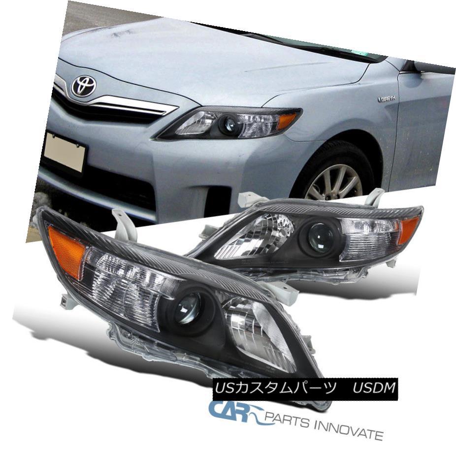 ヘッドライト For 10-11 Toyota Camry Replacement Black Clear Projector Headlights Signal Lamps 10-11トヨタカムリ交換用ブラッククリアプロジェクターヘッドライト信号ランプ