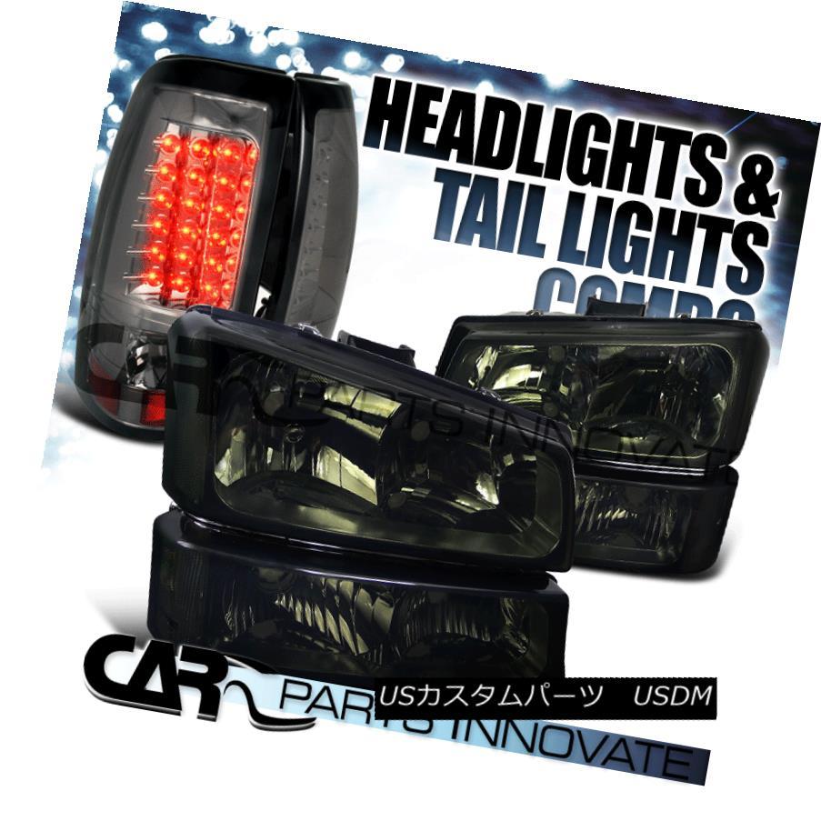 ヘッドライト 03-07 Chevy Silverado Smoke Headlights+Bumper Lamps+LED Rear Tail Lights 03-07 Chevy Silveradoヘッドライト+ Bum 、ランプごと+ LEDリアテールライト