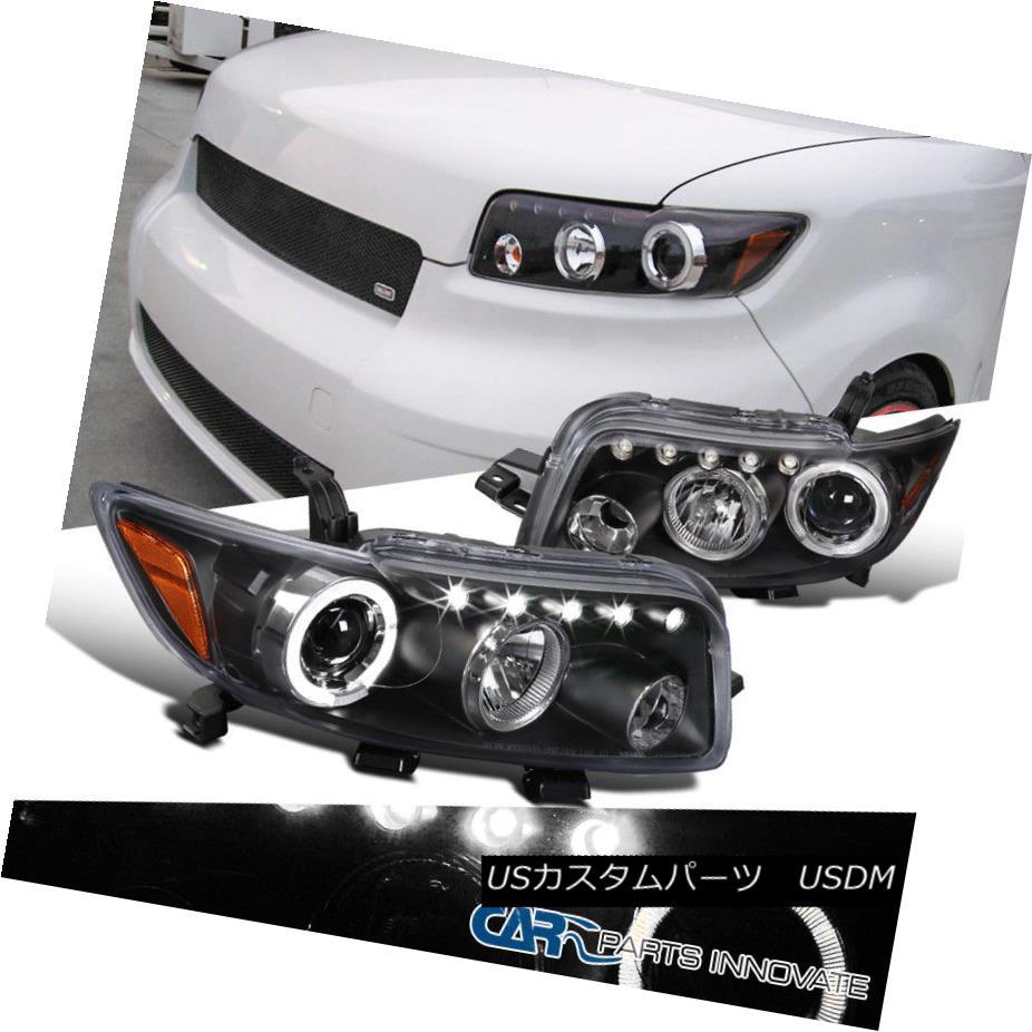 ヘッドライト Scion 08-10 xB JDM LED Halo Black Projector Headlights Driving Head Lamps Pair Scion 08-10 xB JDM LEDハローブラックプロジェクターヘッドライトヘッドランプペアを駆動する