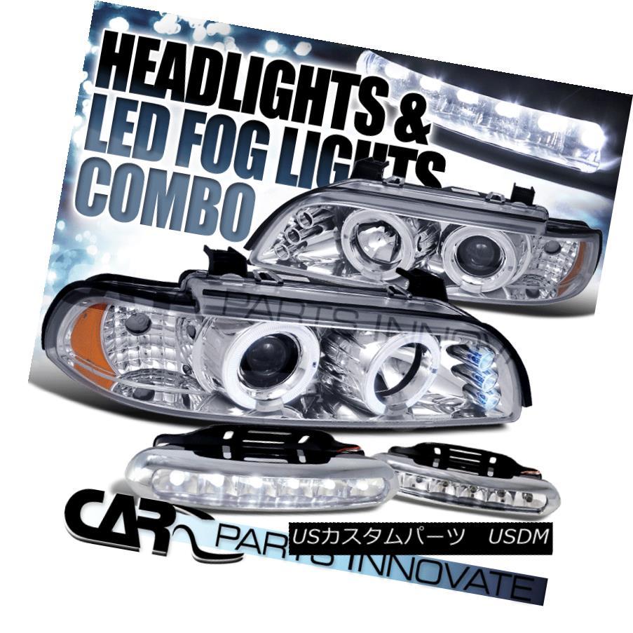 ヘッドライト 96-03 E39 525i 530i 528i 540i Chrome Halo LED Projector Headlight+6-LED Fog Lamp 96-03 E39 525i 530i 528i 540i Chrome Halo LEDプロジェクターヘッドライト+ 6-LE  Dフォグランプ
