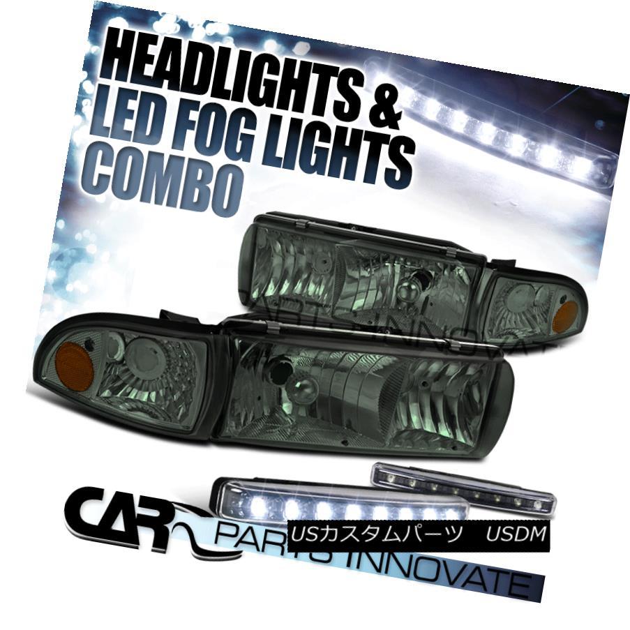 ヘッドライト 91-96 Caprice / 94-96 Impala Crystal Smoke Headlights+Corner+8-LED Fog Lamp 91-96カプリス/ 94-96インパラクリスタルスモークヘッドライト+オレンジ+ 8-LEDフォグランプ