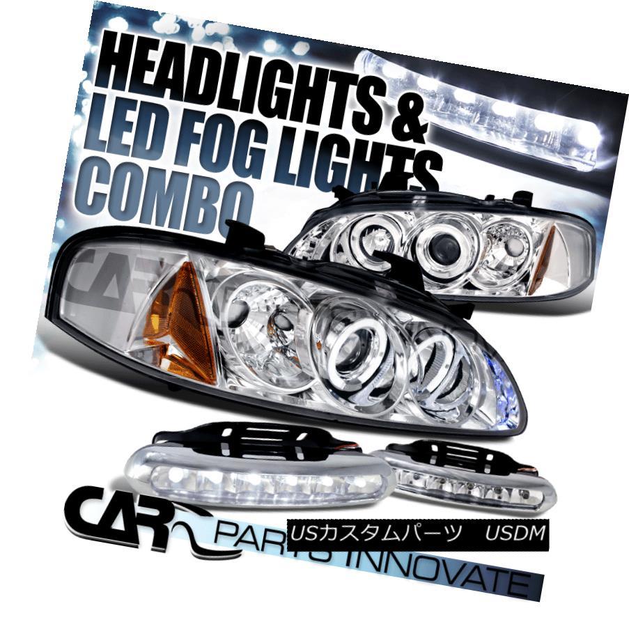 ヘッドライト For 00-03 Nissan Sentra GXE Chrome Halo Projector Headlights+6-LED Fog Lamps 00-03 Nissan Sentra GXEクロームハロープロジェクターヘッドライト+ 6-L  EDフォグランプ