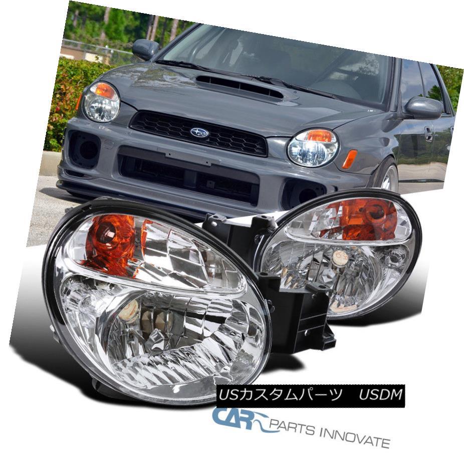 ヘッドライト For 02-03 Subaru Impreza Outback WRX Clear Headlights Head Lamps Replacement Set 02-03スバルインプレッサアウトバックWRXクリアヘッドライトヘッドランプ交換用セット