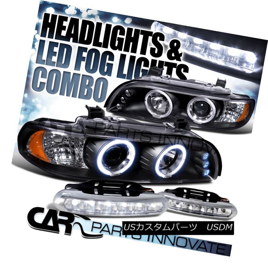 ヘッドライト 96-03 E39 525i 530i 528i 540i Black Halo LED Projector Headlights+6-LED Fog Lamp 96-03 E39 525i 530i 528i 540iブラックハローLEDプロジェクターヘッドライト+ 6-L  EDフォグランプ