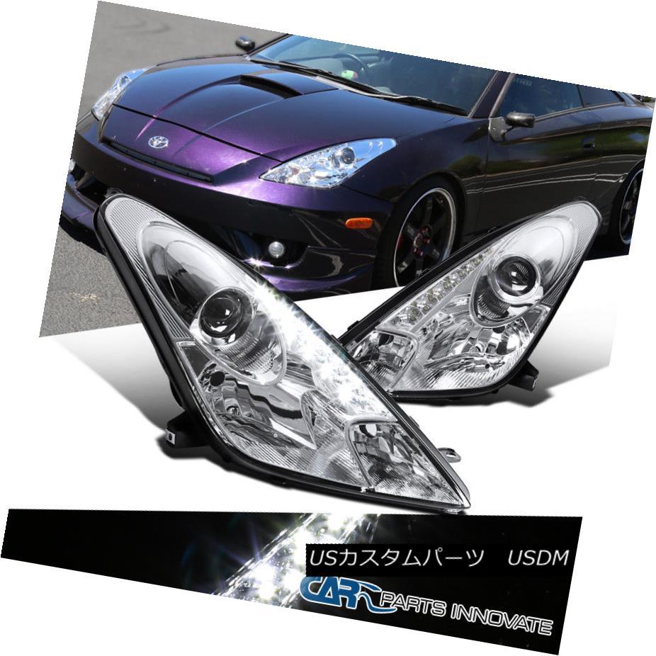 ヘッドライト For 00-05 Toyota Celica Clear LED Projector Headlights Head Lamps Replacement 00-05用トヨタセリカクリアLEDプロジェクターヘッドライトヘッドランプ交換