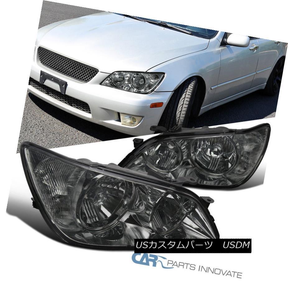ヘッドライト 01-05 Lexus IS300 Chrome Headlights Replacement Head Lamps Smoke Set Left+Right 01-05レクサスIS300クロームヘッドライト交換ヘッドランプスモークセット左+右
