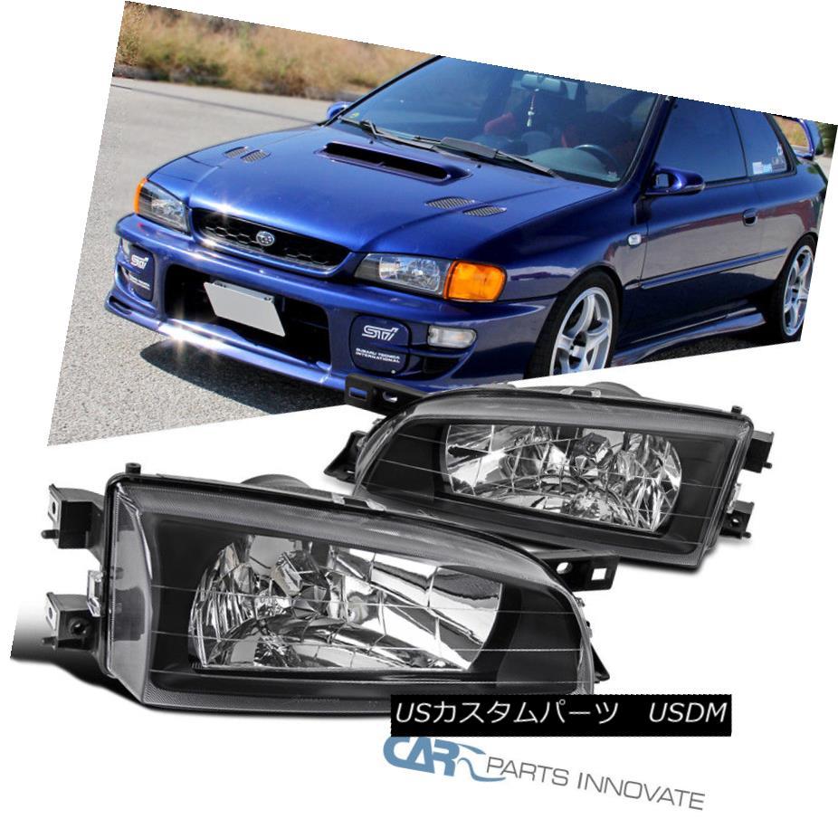 ヘッドライト For 1995-2001 Subaru Impreza Black Diamond Headlights Driving Lamps Left+Right 1995?2001年スバルインプレッサブラックダイヤモンドヘッドライト