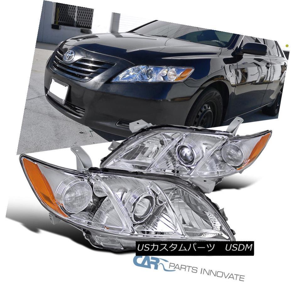 ヘッドライト For 07-09 Toyota Camry CE LE SE Clear Projector Headlights Headlamps Left+Right 07-09用トヨタカムリCE LE SEクリアプロジェクターヘッドライトヘッドランプ左+右