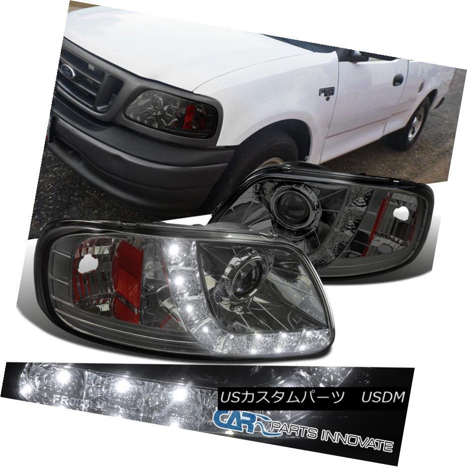 ヘッドライト Ford 97-03 F150 Expedition Smoke Lens LED DRL 1 PC Style Projector Headlights フォード97-03 F150遠征煙レンズLED DRL 1 PCスタイルプロジェクターヘッドライト