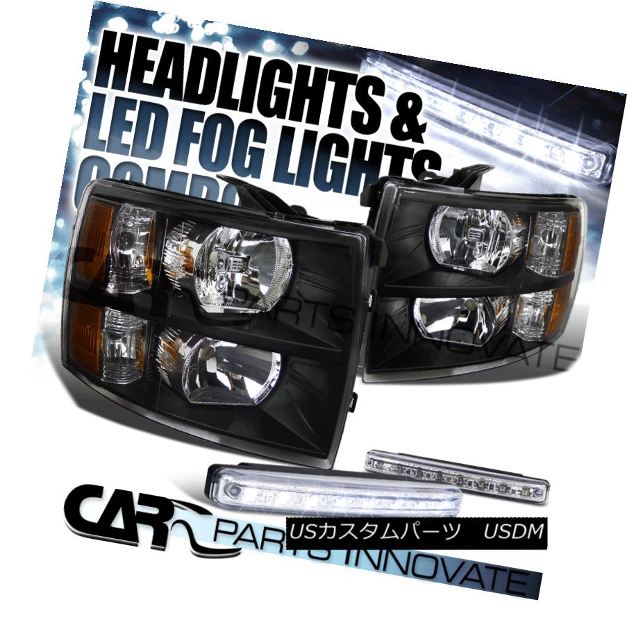 Fits 99-02 Chevy Silverado 1500 2500 3500// 00-06 Suburban Headlights Pair
