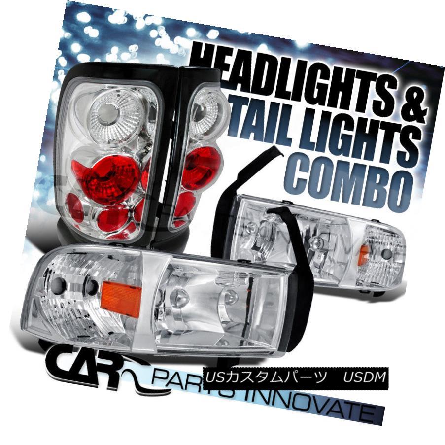 ヘッドライト 1994-2001 Ram 1500 2500 3500 Chrome Crystal Headlights+Altezza Tail Lamp 1994-2001 Ram 1500 2500 3500クロームクリスタルヘッドライト+ Alt  ezzaテールランプ