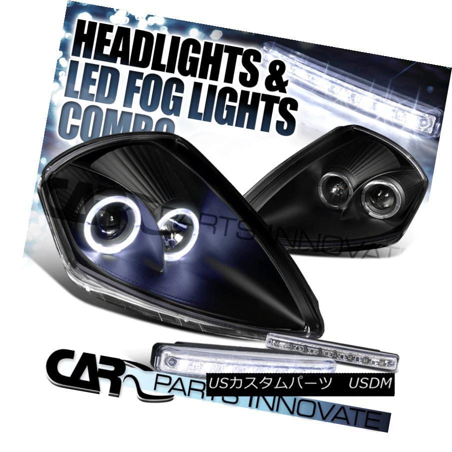 ヘッドライト 00-05 Eclipse Black Dual Halo Projector Headlights+8-LED Bumper Fog Lamps 00-05 Eclipseブラックデュアルハロープロジェクターヘッドライト+ 8-L  EDバンパーフォグランプ