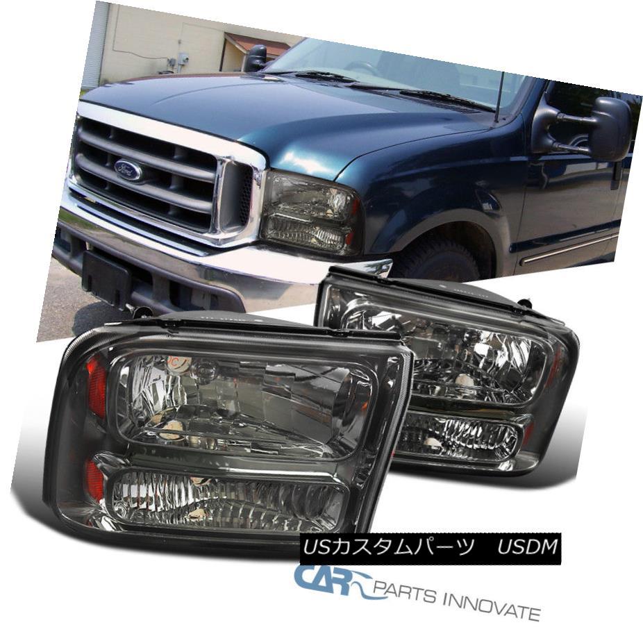 ヘッドライト Ford 99-04 F250 F350 Super Duty 00-04?Excursion Smoke 1PC Headlights Head Lamps フォード99-04 F250 F350スーパーDuty00-04 Excursio n煙1PCヘッドライトヘッドランプ