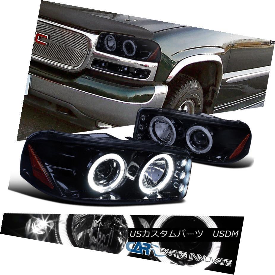 ヘッドライト Glossy Black 00-06 Yukon XL Sierra Denali Tinted LED Projector Headlights Lamps 光沢ブラック00-06ユーコンXLシエラデナリ着色LEDプロジェクターヘッドライトランプ