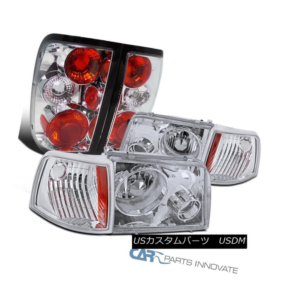 ヘッドライト 93-97 Ford Ranger Clear Projector Fog Headlights+Turn Signal Lamps+Tail Lights 93-97フォードレンジャークリアプロジェクターフォグヘッドライト+ Tur  n信号ランプ+テールライト