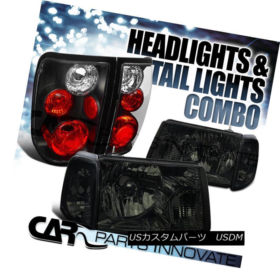 ヘッドライト 01-05 Ranger Smoke Crystal Headlights+Corner Signal Lamp+Black Tail Light 01-05レンジャースモーククリスタルヘッドライト+ Cor  ner信号ランプ+ブラックテールライト