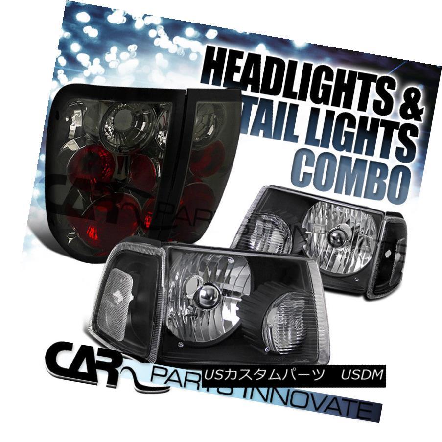 ヘッドライト 2001-2005 Ranger Black Clear Headlights+Corner Signal Lamps+Smoke Tail Lights 2001-2005レンジャーブラッククリアヘッドライト+コルク nerシグナルランプ+スモークテールライト