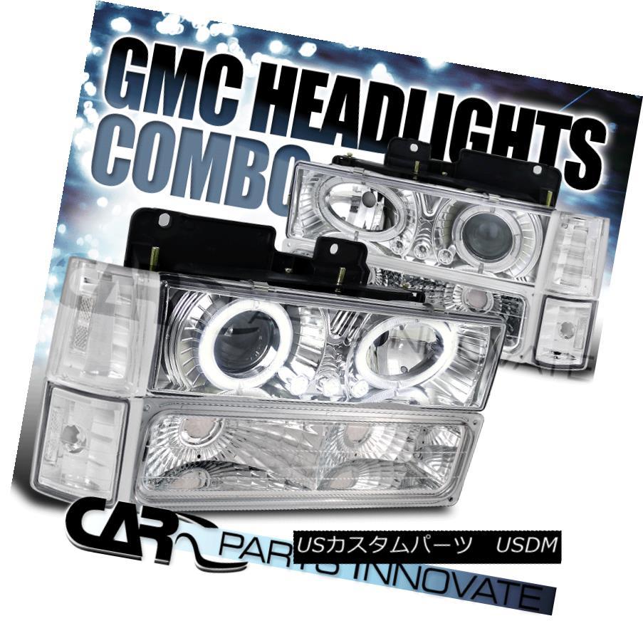ヘッドライト 94-98 GMC C/K Pick Up Sierra Yukon Projector Headlights w/ Bumper Corner Lamps 94-98 GMC C / Kピックアップシエラ・ユーコンプロジェクター・ヘッドライト(バンパー・コーナーランプ付)