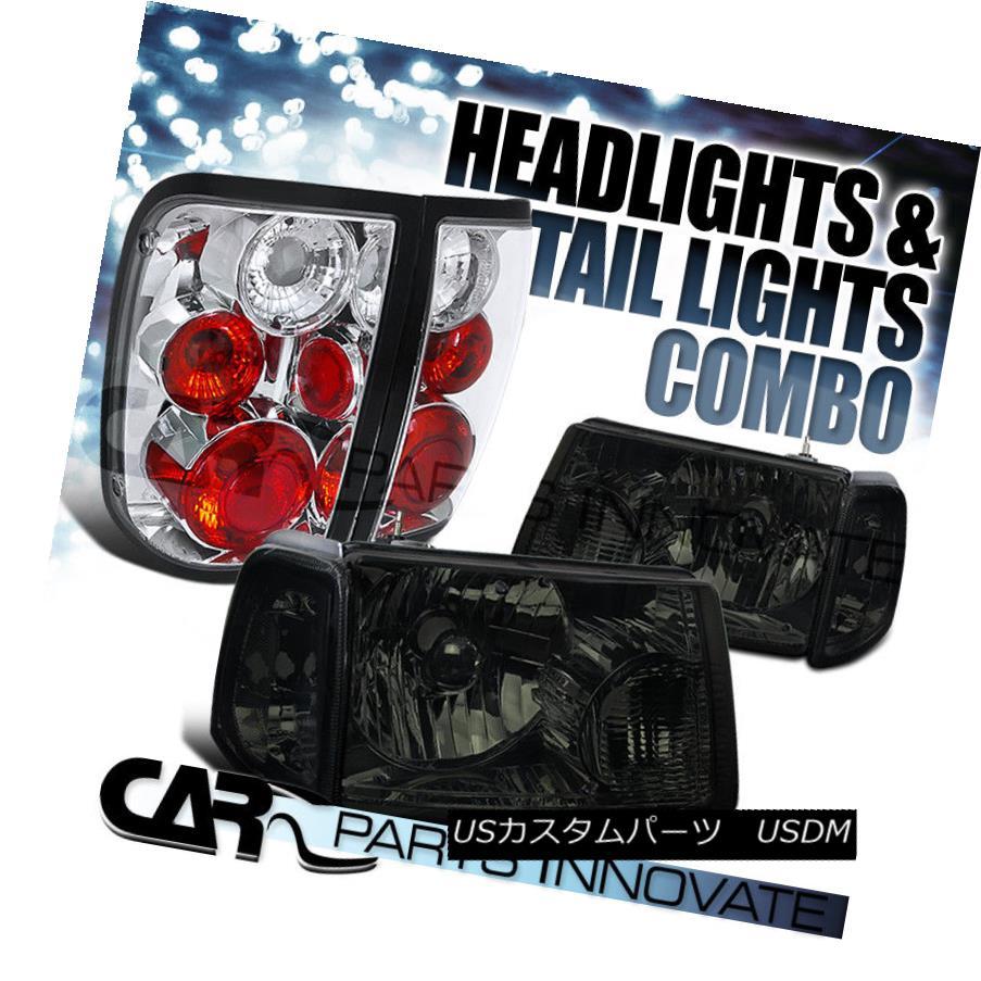ヘッドライト 01-05 Ranger Smoke Crystal Headlights+Corner Signal Lamp+Chrome Tail Light 01-05レンジャースモーククリスタルヘッドライト+ Cor  nerシグナルランプ+クロムテールライト