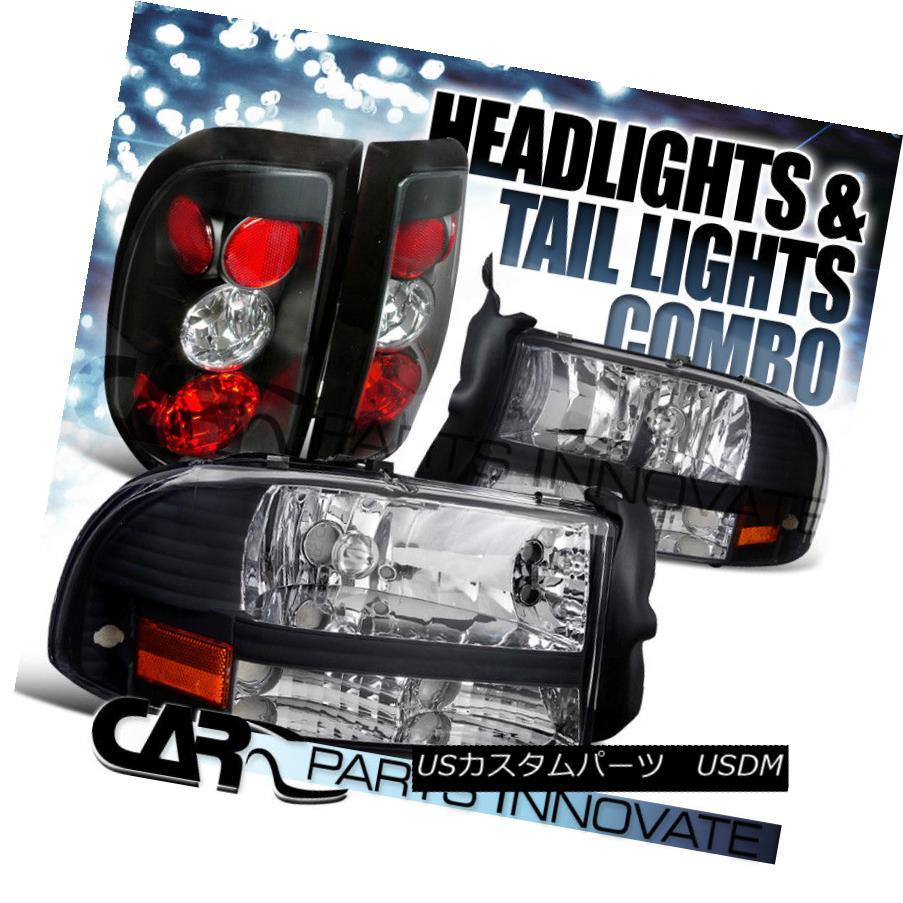 ヘッドライト 1997-2004 Dodge Dakota Black Crystal Headlights+Altezza Tail Lamp 1997-2004ダッジダコタブラッククリスタルヘッドライト+ Alt  ezzaテールランプ