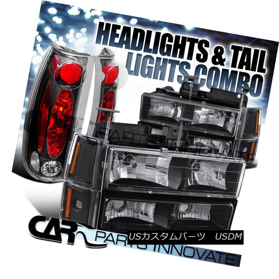 ヘッドライト 94-98 GMC C10 1500 Black Headlights+Bumper Corner Lamps+Altezza Tail Lamps 94-98 GMC C10 1500ブラックヘッドライト+ブール /コーナーランプ+ Altezzaテールランプ