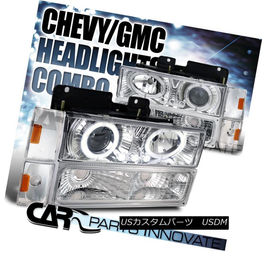 ヘッドライト 1988-1993 Chevy/GMC C10 C/K Chrome Projector Headlights w/ Bumper Corner Lamps 1988-1993 Chevy / GMC C10 C / Kクロームプロジェクターヘッドライト(バンパーコーナーランプ付)