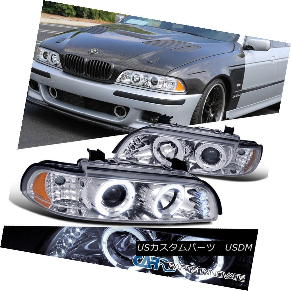 ヘッドライト BMW 01-03 E39 525i 528i 540i LED Halo Projector Headlights Lamp Chrome BMW 01-03 E39 525i 528i 540i LEDハロープロジェクターヘッドライトランプクローム