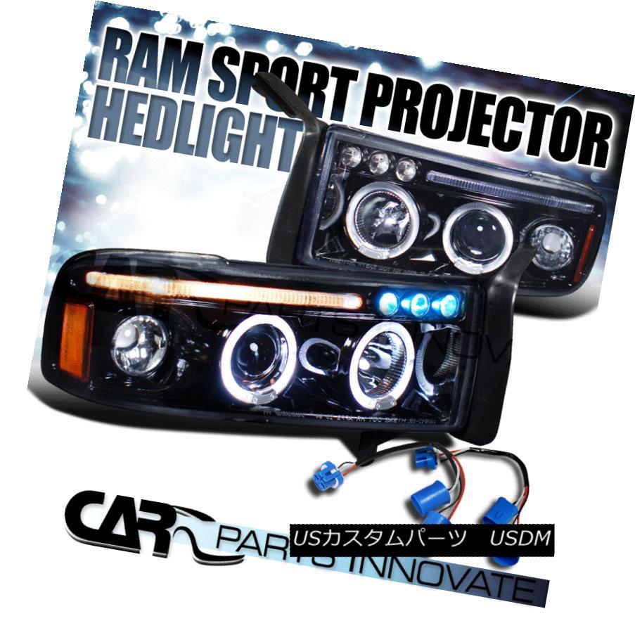 ヘッドライト New!! Glossy Black 1994-2001 Ram 1500 2500 Sport Smoke LED Projector Headlights 新しい!! Glossy Black 1994-2001 Ram 1500 2500スポーツスモークLEDプロジェクターヘッドライト