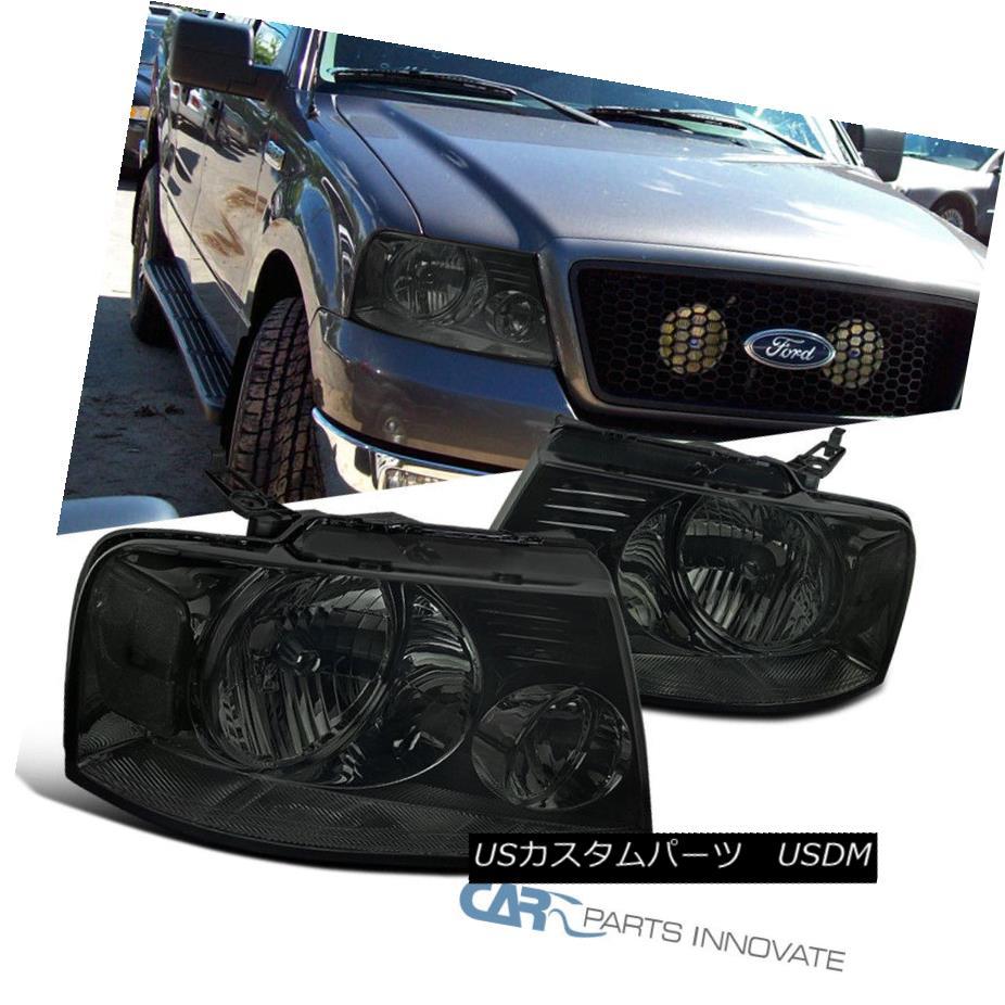 ヘッドライト Ford 04-08 F150 Lincoln 06-08 Mark LT Euro Tinted Headlights Lamps Smoke Pair フォード04-08 F150リンカーン06-08マークユーロティンテッドヘッドライトランプスモークペア