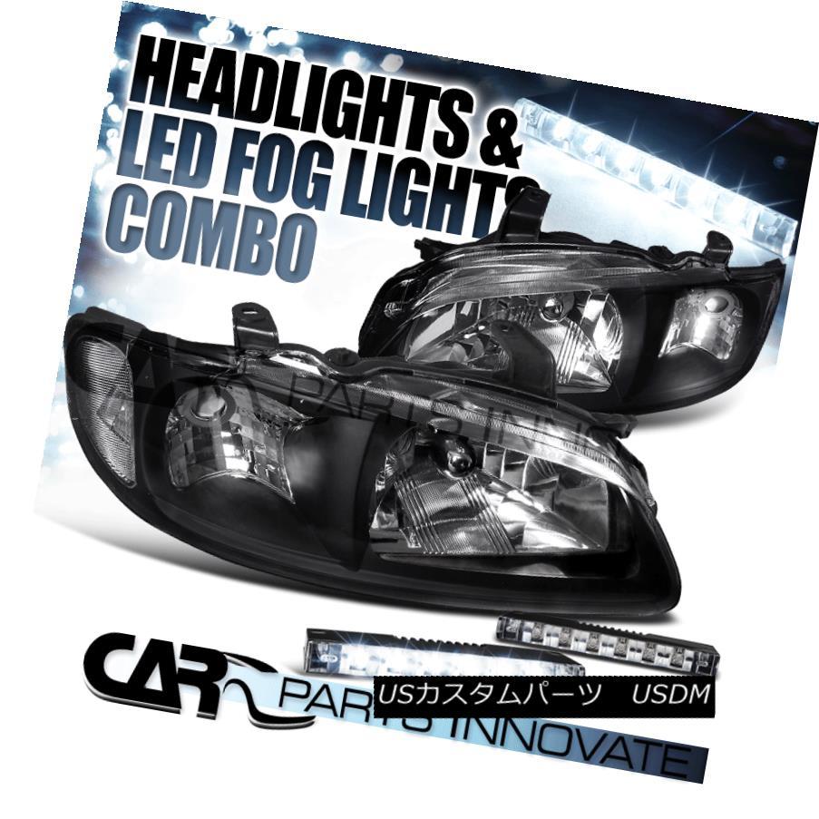 ヘッドライト For 00-03 Nissan Sentra 4Dr Diamond Black Headlights+6-LED Bumper Fog Lamps 00-03 Nissan Sentra 4Drダイヤモンドブラックヘッドライト+ 6-L  EDバンパーフォグランプ