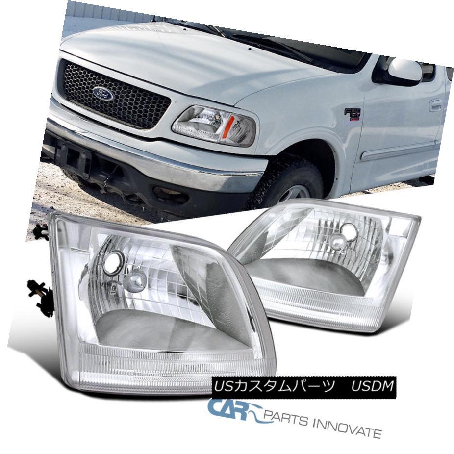ヘッドライト 97-03 Ford Expedition F150 F-150 Pickup Replacement Clear Headlights Head Lamps 97-03フォード遠征F150 F-150ピックアップ交換クリアヘッドライトヘッドランプ