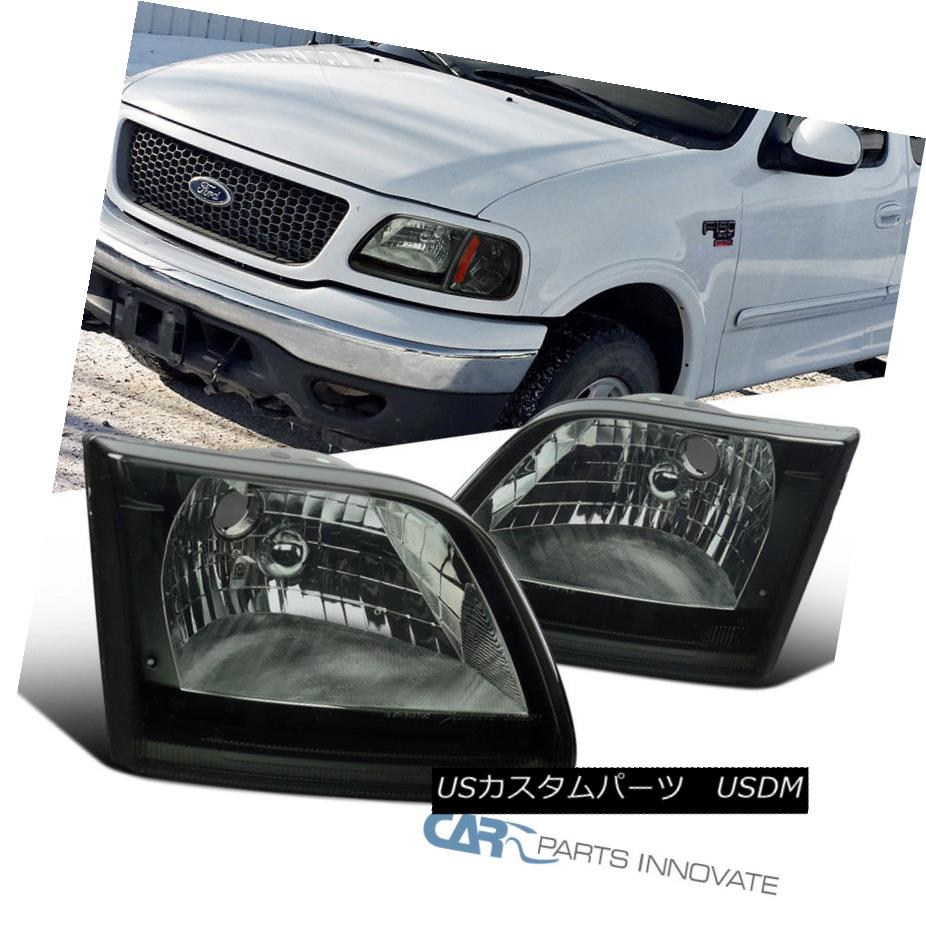 ヘッドライト Ford 97-04 F150 Expedition Replacement Tinted Headlight Head Lamps Smoke Pickup フォード97-04 F150遠征交換色付きヘッドライトヘッドランプスモークピックアップ