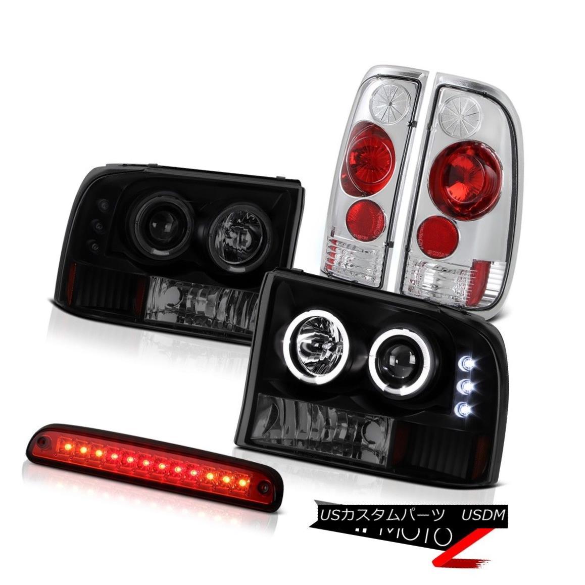 ヘッドライト Halo SINSTER BLACK Headlight Roof Brake Cargo LED Rear Taillamp 99-04 F250 XL Halo SINISTER BLACKヘッドライトルーフブレーキカーゴLEDリアテールランプ99-04 F250 XL