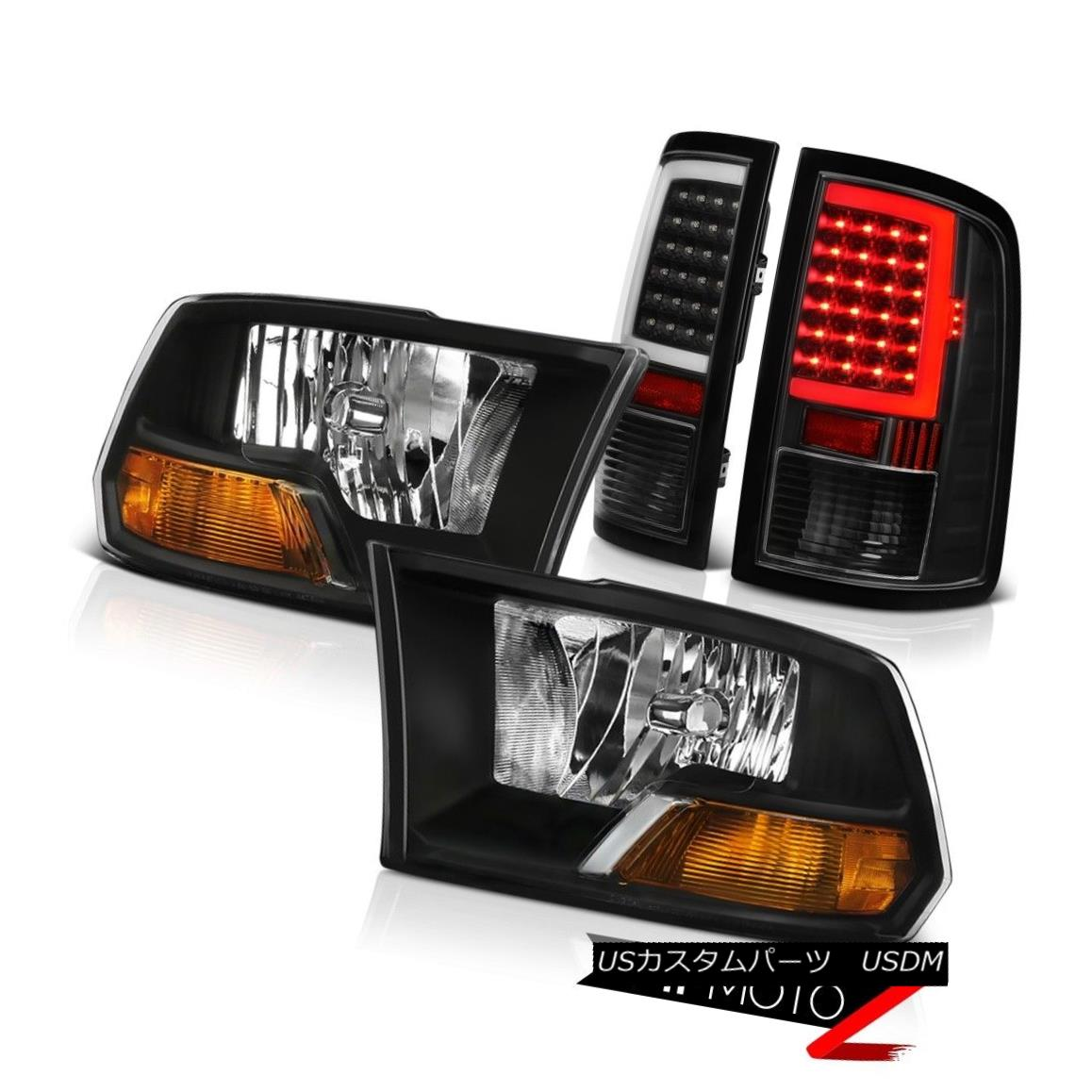 ヘッドライト 09-18 Dodge RAM 3500 Black Neon Tube Tail Lamps Factory Style Headlamp Assembly 09-18ダッジRAM 3500ブラックネオンチューブテールランプ工場スタイルヘッドランプアセンブリ