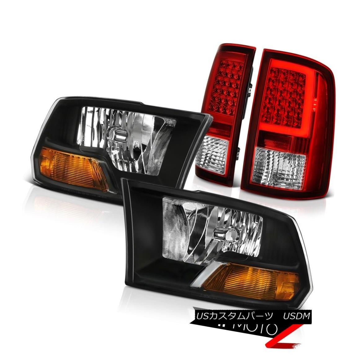 ヘッドライト 09 10 11 12 13-18 Dodge RAM 1500 2500 Tail Light Black Factory Style Headlamp 09 10 11 12 13-18 Dodge RAM 1500 2500テールライトブラック工場風ヘッドランプ