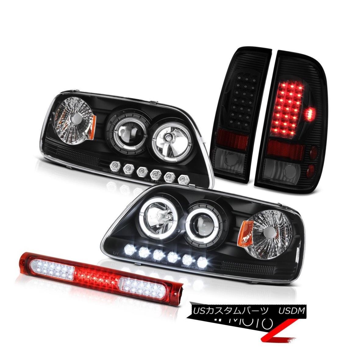 ヘッドライト 97-03 F150 Xl Red High Stop Lamp Sinister Black Rear Brake Lights Headlights 97-03 F150 X1レッドハイストップランプシニスターブラックリアブレーキライトヘッドライト
