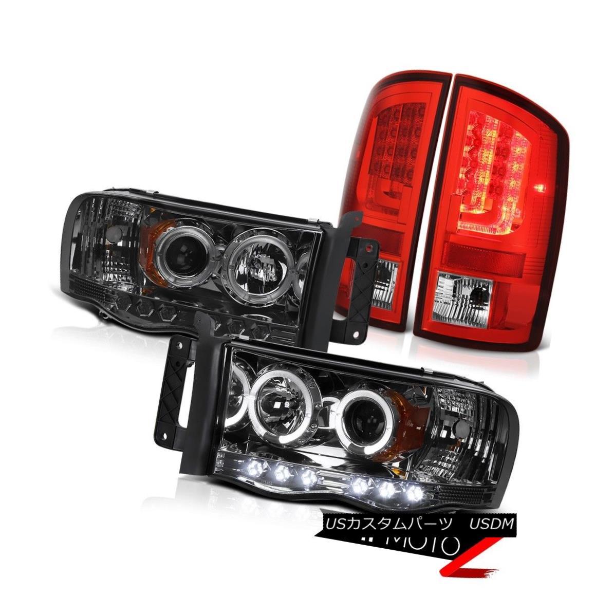 ヘッドライト 02-05 Dodge Ram 2500 1500 3.7L Wine Red Tail Brake Lights Smoked Headlights LED 02-05 Dodge Ram 2500 1500 3.7LワインレッドテールブレーキライトスモークヘッドライトLED