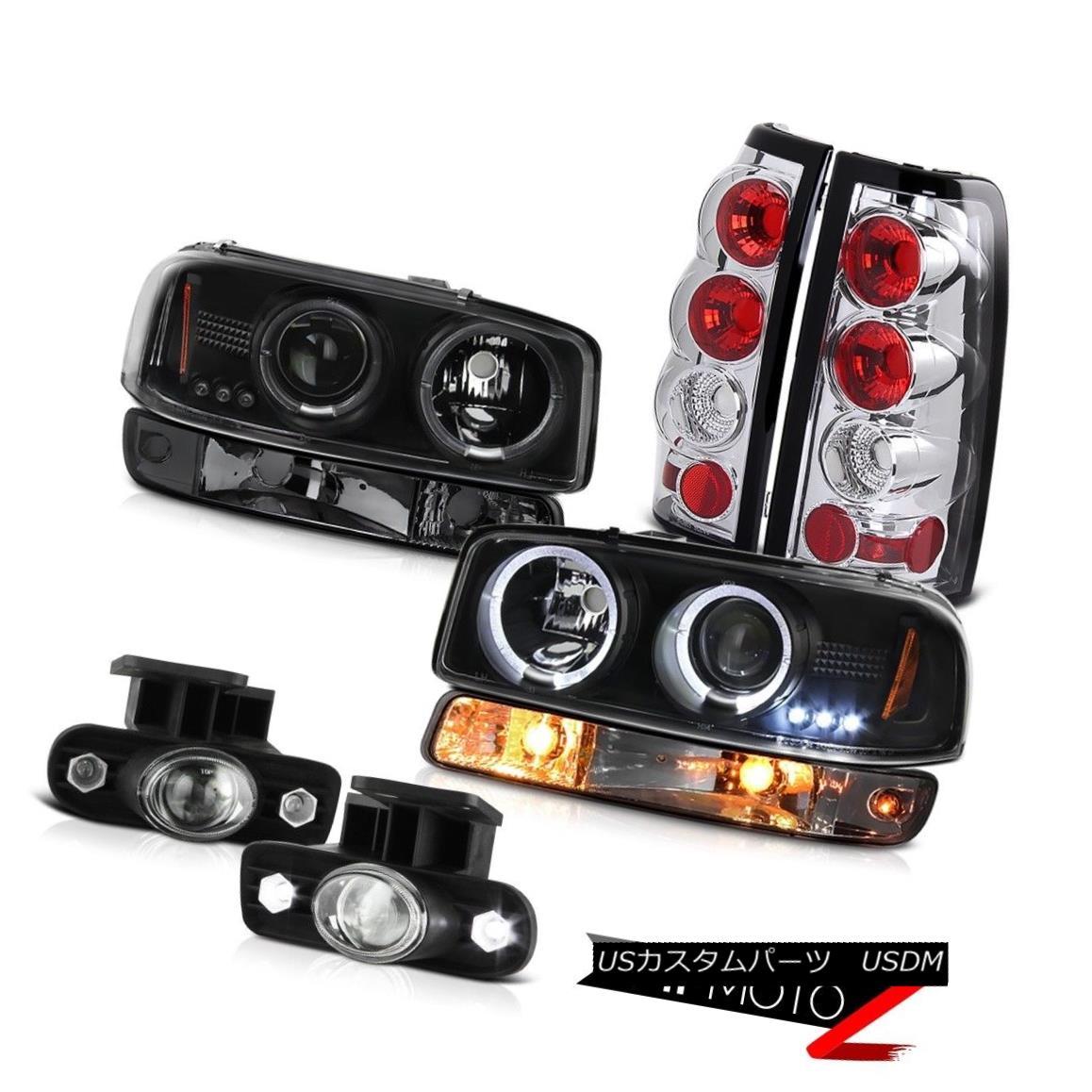 ヘッドライト 99-02 Sierra 5.3L Euro clear foglamps rear brake lights parking light headlamps 99-02シエラ5.3Lユーロクリアフォグランプリアブレーキライト駐車ライトヘッドランプ