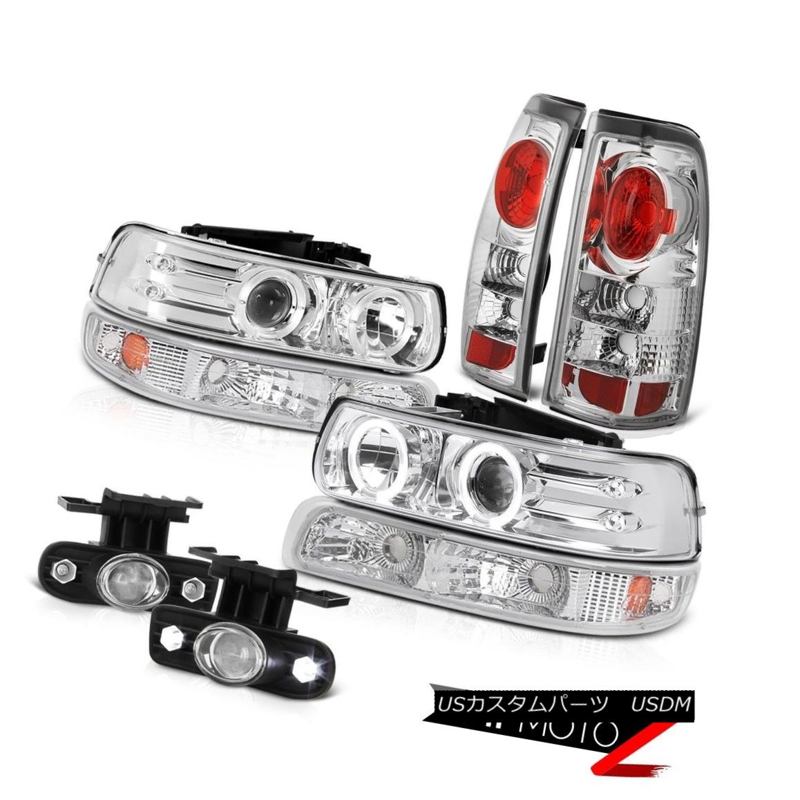 ヘッドライト 99-02 Chevrolet Silverado 2500 CCFL Halo DRL Headlights Bumper Lights Foglight 99-02 Chevrolet Silverado 2500 CCFL Halo DRLヘッドライトバンパーライトFoglight