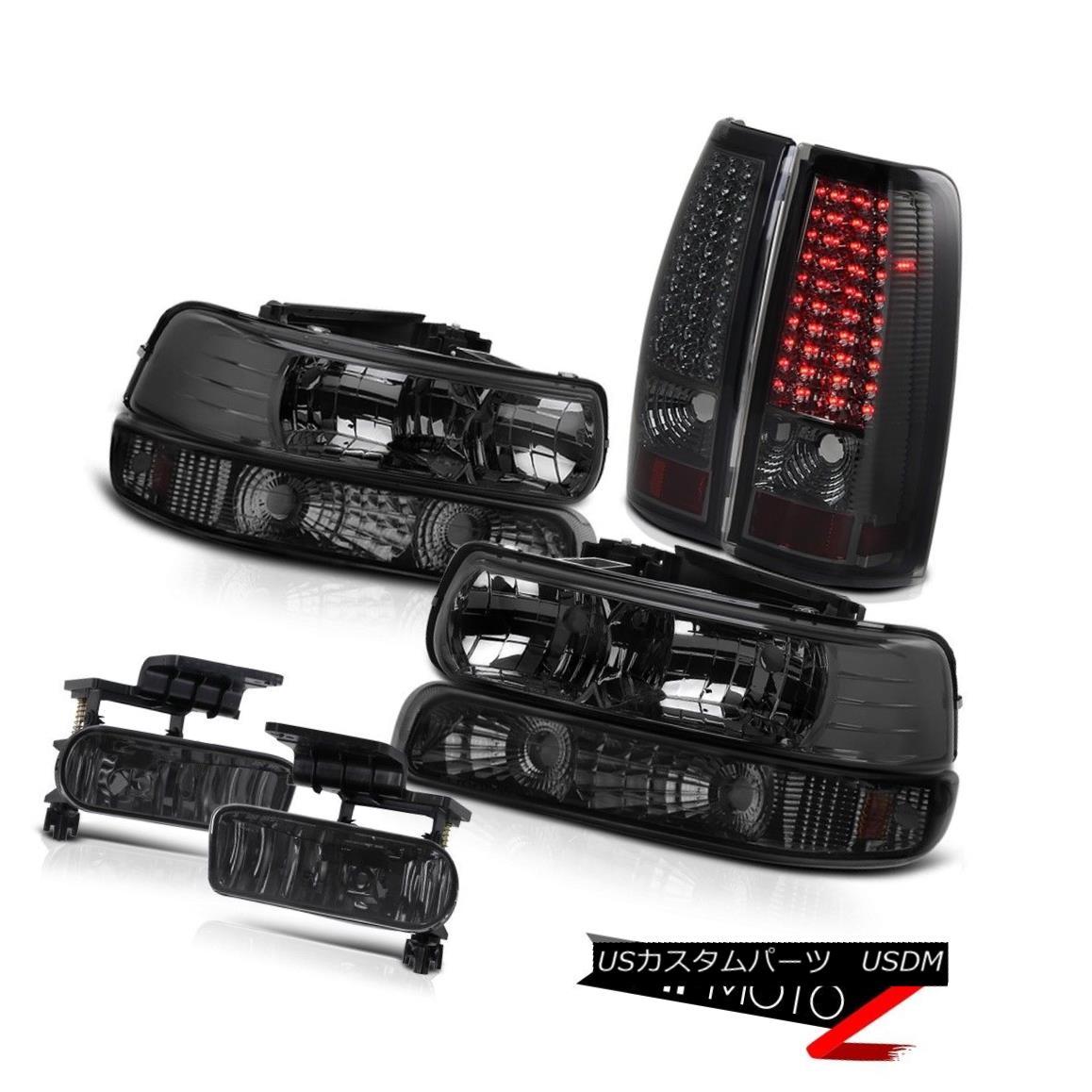 ヘッドライト Smoke Headlights Tinted Parking LED Tail Lights Foglights 99-02 Silverado 4WD スモークヘッドライト着色駐車LEDテールライトフォグライト99-02 Silverado 4WD