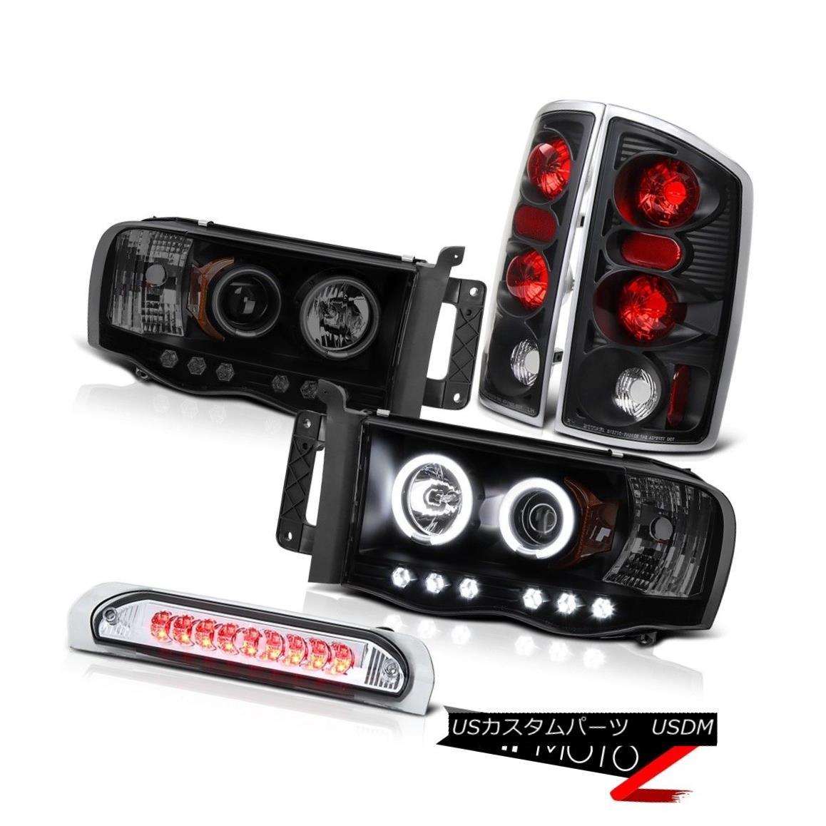 ヘッドライト 02-05 Ram Magnum 8.0L ST Projector CCFL Angel Eye Headlamps Rear Signal Tail 02-05ラムマグナム8.0L STプロジェクターCCFLエンジェルアイヘッドランプリアシグナルテール