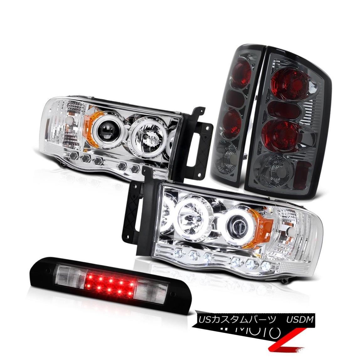 ヘッドライト Quality Headlights CCFL DRL Brake Lamps Tail Black Third LED 2002-2005 Ram Hemi 品質ヘッドライトCCFL DRLブレーキランプテールブラック第3 LED 2002-2005 Ram Hemi
