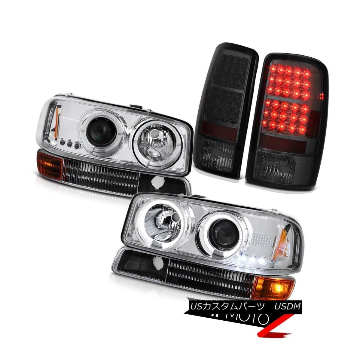 ヘッドライト Tinted LED Tail Light 00-06 Yukon Projector Clear Headlight Black Parking Bumper 着色テールライト00-06ユーコンプロジェクタークリアヘッドライトブラック駐車バンパー