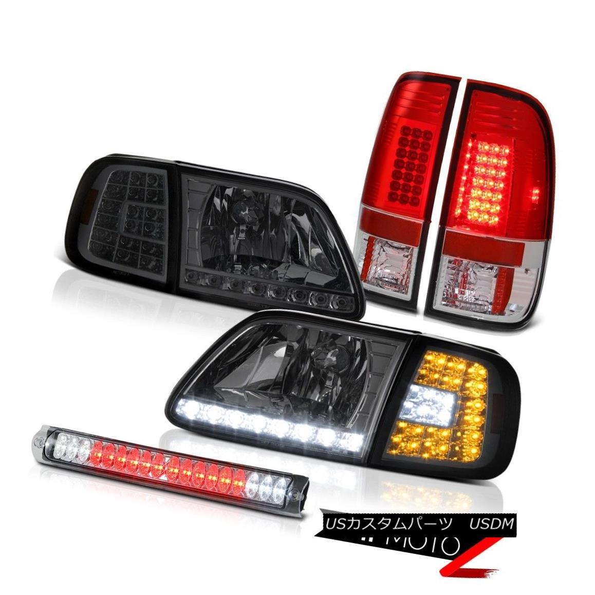 ヘッドライト L.E.D Headlights Red TailLights Euro Third Brake 97 98 99 00 01 02 03 F150 4.6L L.E.Dヘッドライト赤テールライトユーロ第3ブレーキ97 98 99 00 01 02 03 F150 4.6L