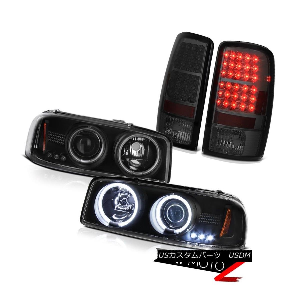 ヘッドライト GMC DRL CCFL Halo Headlight Smoke SMD LED Tail Lights 00 01 02 03 04 05 06 Yukon GMC DRL CCFL HaloヘッドライトスモークSMD LEDテールライト00 01 02 03 04 05 06ユーコン