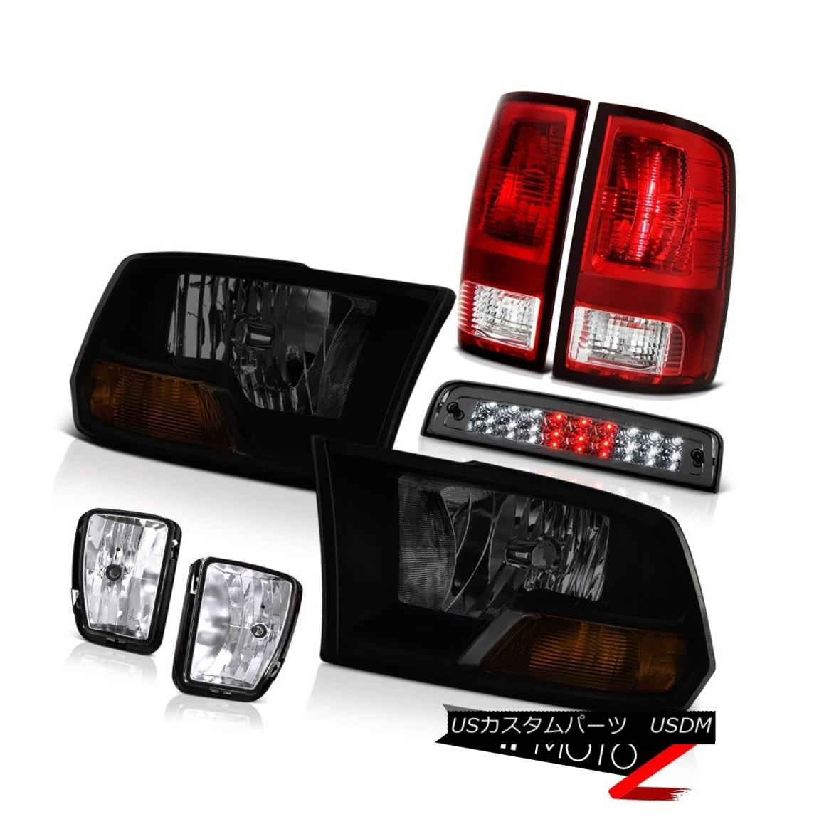 ヘッドライト 13-18 Dodge Ram 1500 Laramie 3RD Brake Light Fog Lights Taillamps Headlights LED 13-18 Dodge Ram 1500 Laramie 3RDブレーキライトフォグライトタイルランプヘッドライトLED