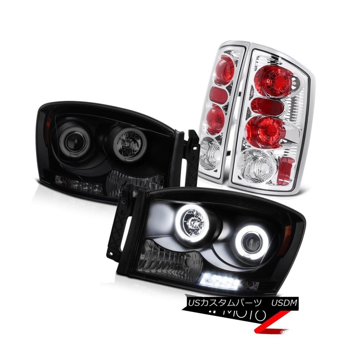 ヘッドライト 2006 Ram 1500 2500 3500 [BRIGHTEST] CCFL Halo Headlights Euro Chrome Tail Lamps 2006 Ram 1500 2500 3500 [明るい] CCFL Haloヘッドライトユーロクロームテールランプ