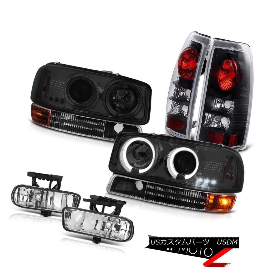 ヘッドライト Projector Headlights Smoke Bumper Signal Tail Lights Chrome Fog 99-03 GMC Sierra プロジェクターヘッドライトスモークバンパー信号テールライトクロムフォグ99-03 GMC Sierra