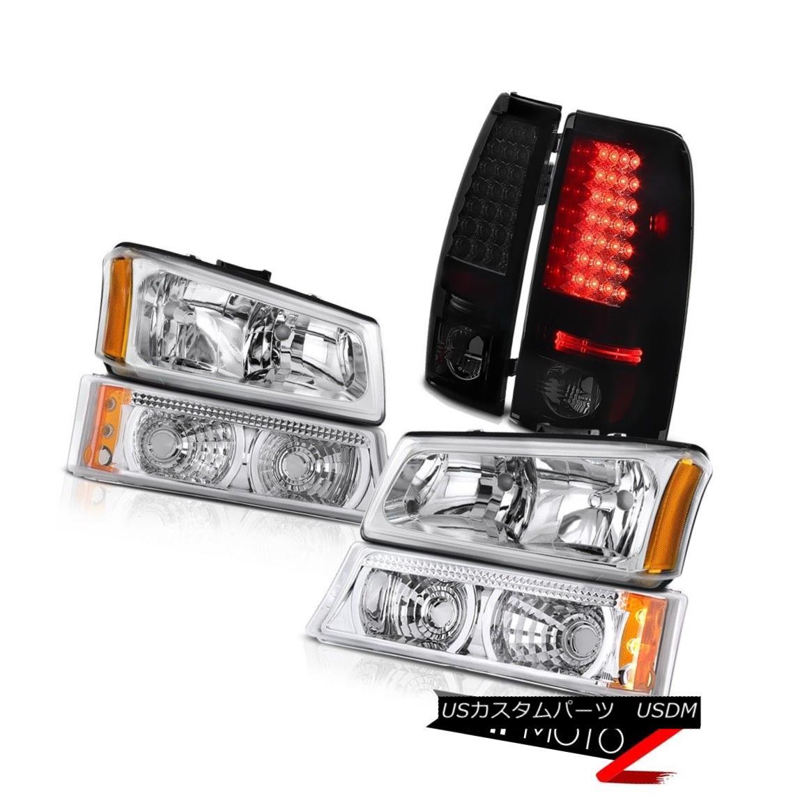 ヘッドライト Left Right Headlights Bumper Rear Brake Tail Light LED 2003-2006 Silverado 1500 左右ヘッドライトバンパーリアブレーキテールライトLED 2003-2006シルバラード1500